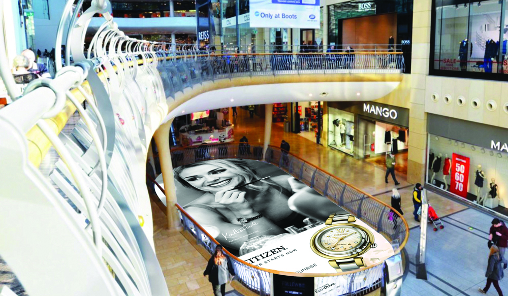 CITIZEN LAUNCHES EXTENSIVE OUTDOOR ADVERTISING CAMPAIGN – Bullring Atrium Banner
