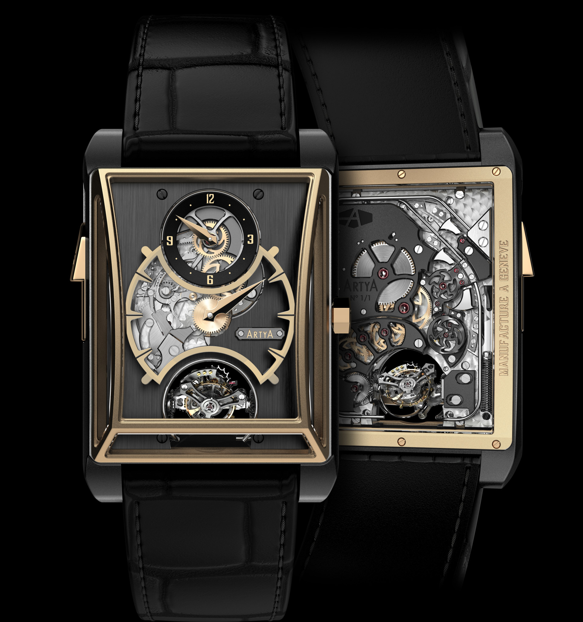 ArtyA 3 gongs minute repeater regulator and double axis tourbillon