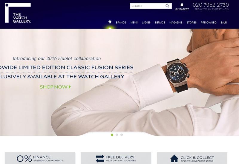 The Watch Gallery website