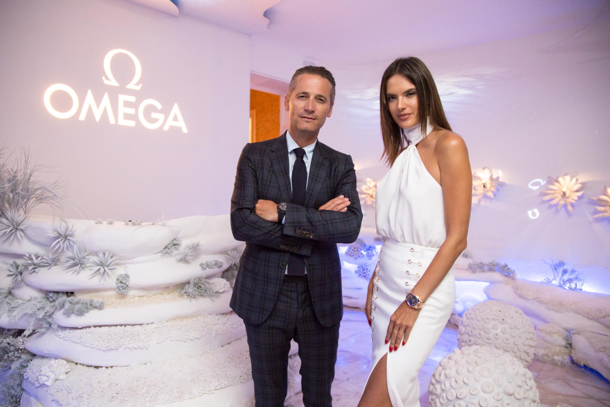 Alessandra Ambrosio visits Omega Houses in Rio.