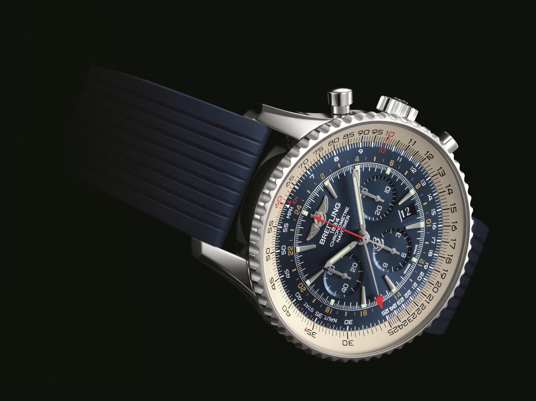 Navitimer GMT Aurora Blue