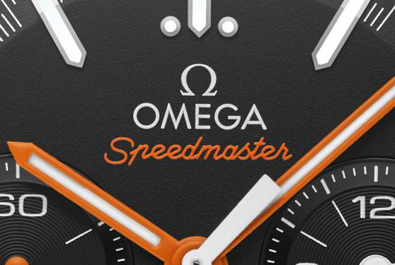 Omega Speedmaster men close up