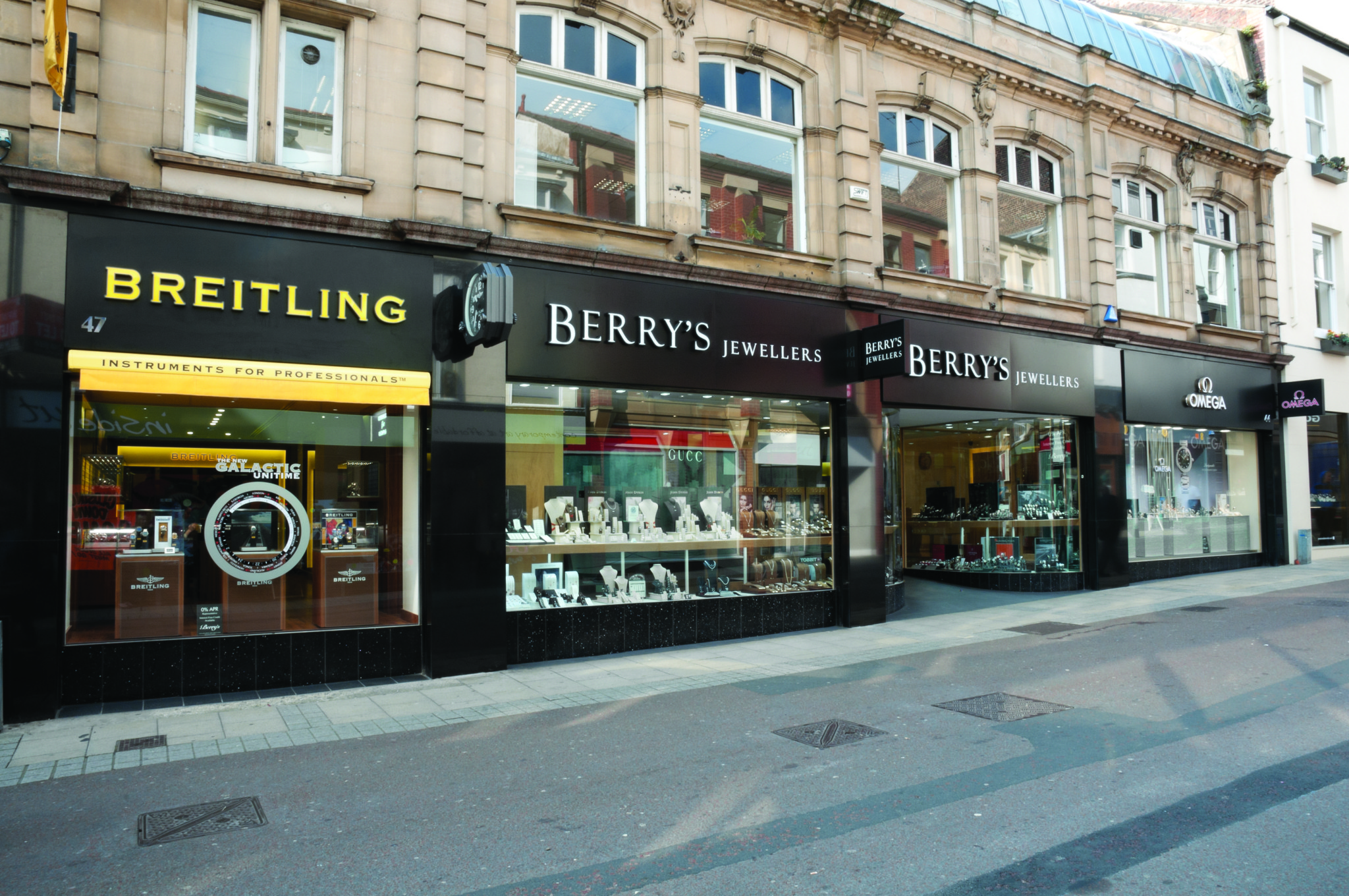Berry's has created a parade of luxury monobrand store fronts on Commercial Street in Leeds. Rivals have Rolex and Patek Philippe boutiques on the same street, turning it into a local version of London's Bond Street.