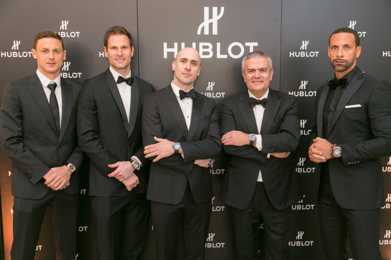 Hublot_The Princes Trust_Nemanja Matic, Asmir Begovic, Maxime Büchi, Ricardo Guadalupe, Rio Ferdinand