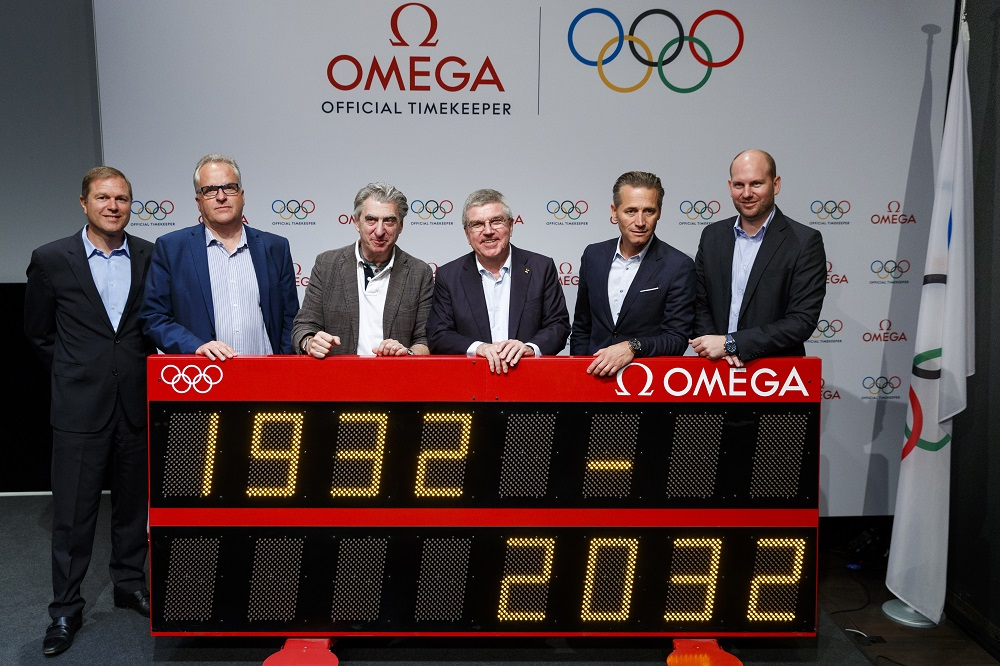 Swatch Group and IOC executives highlight 100 years of Omega working with the Olympics.