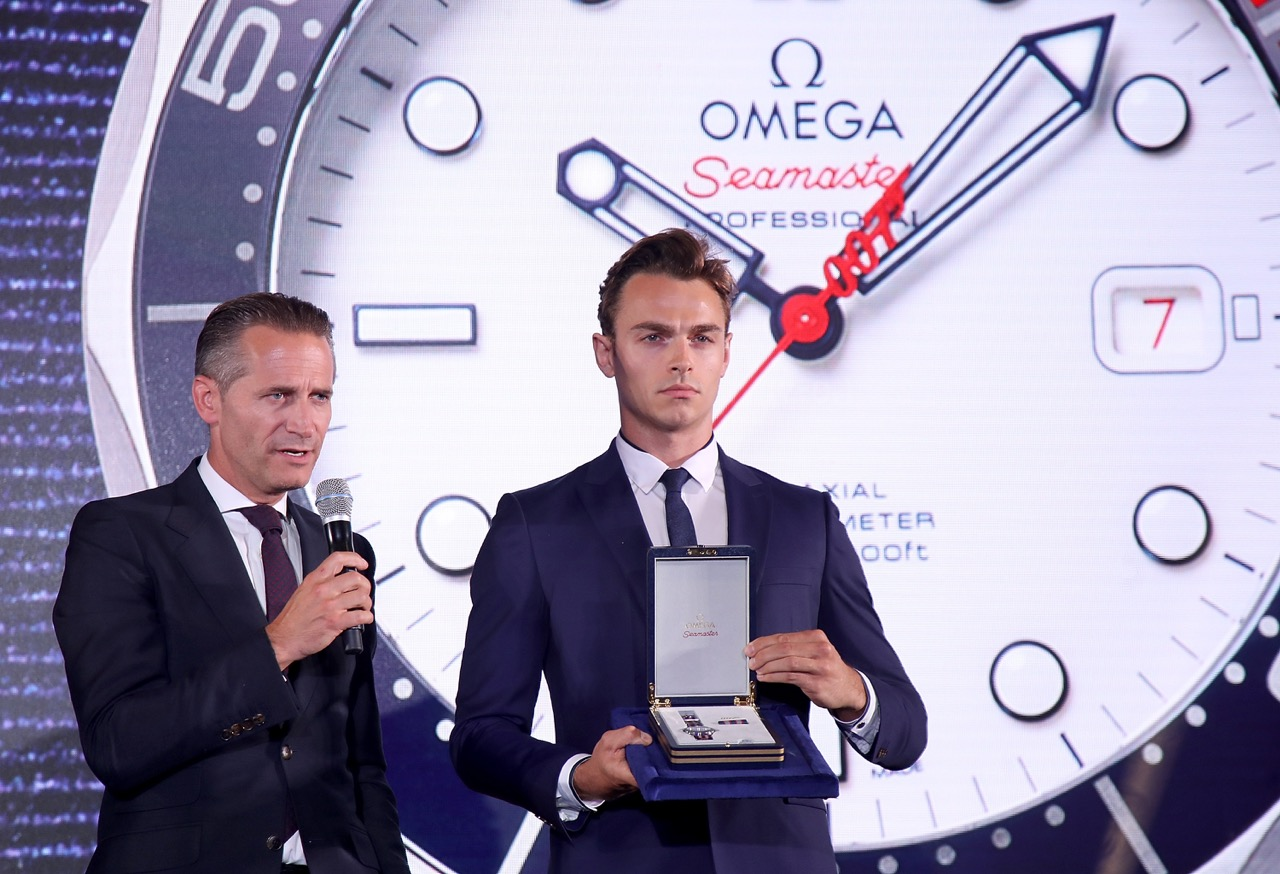 Omega CEO Raynald Aeschlimann launches the Commanders Watch.