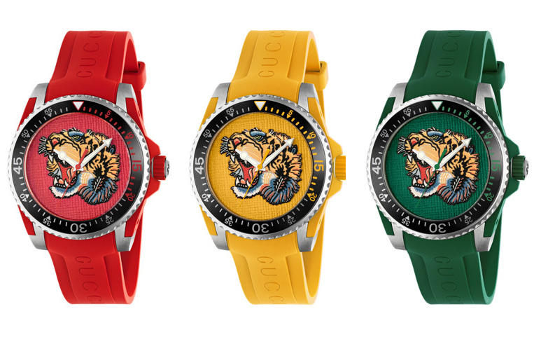 Gucci Tiger Dive Watches