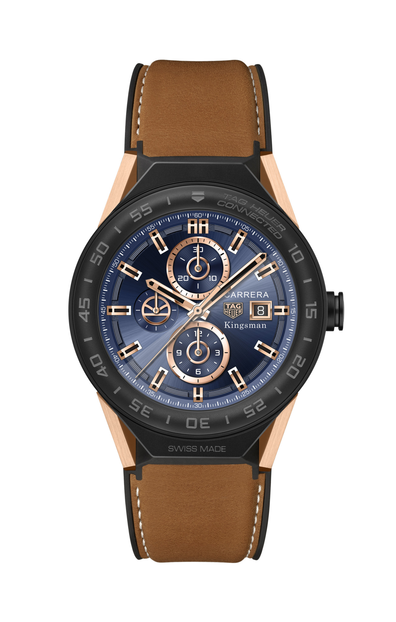 TAG Heuer SBF8A8023.32EB0103 KINGSMAN SPECIAL EDITION - BROWN LEATHER STRAP 2017 HDAllumé
