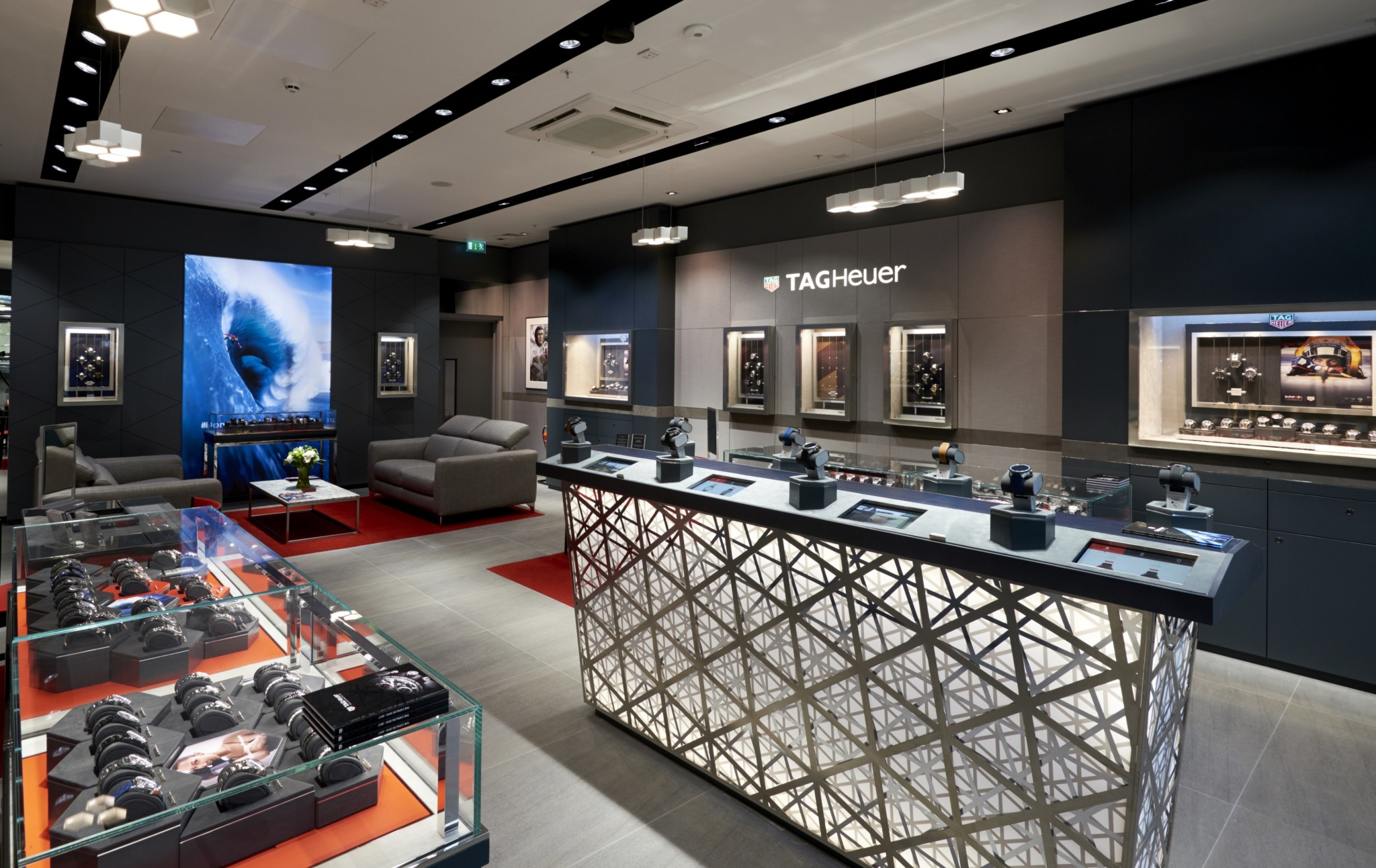 The brand new TAG Heuer boutique in Meadowhall