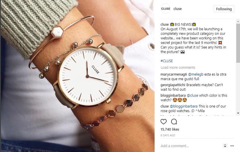 cluse jewellery instagram