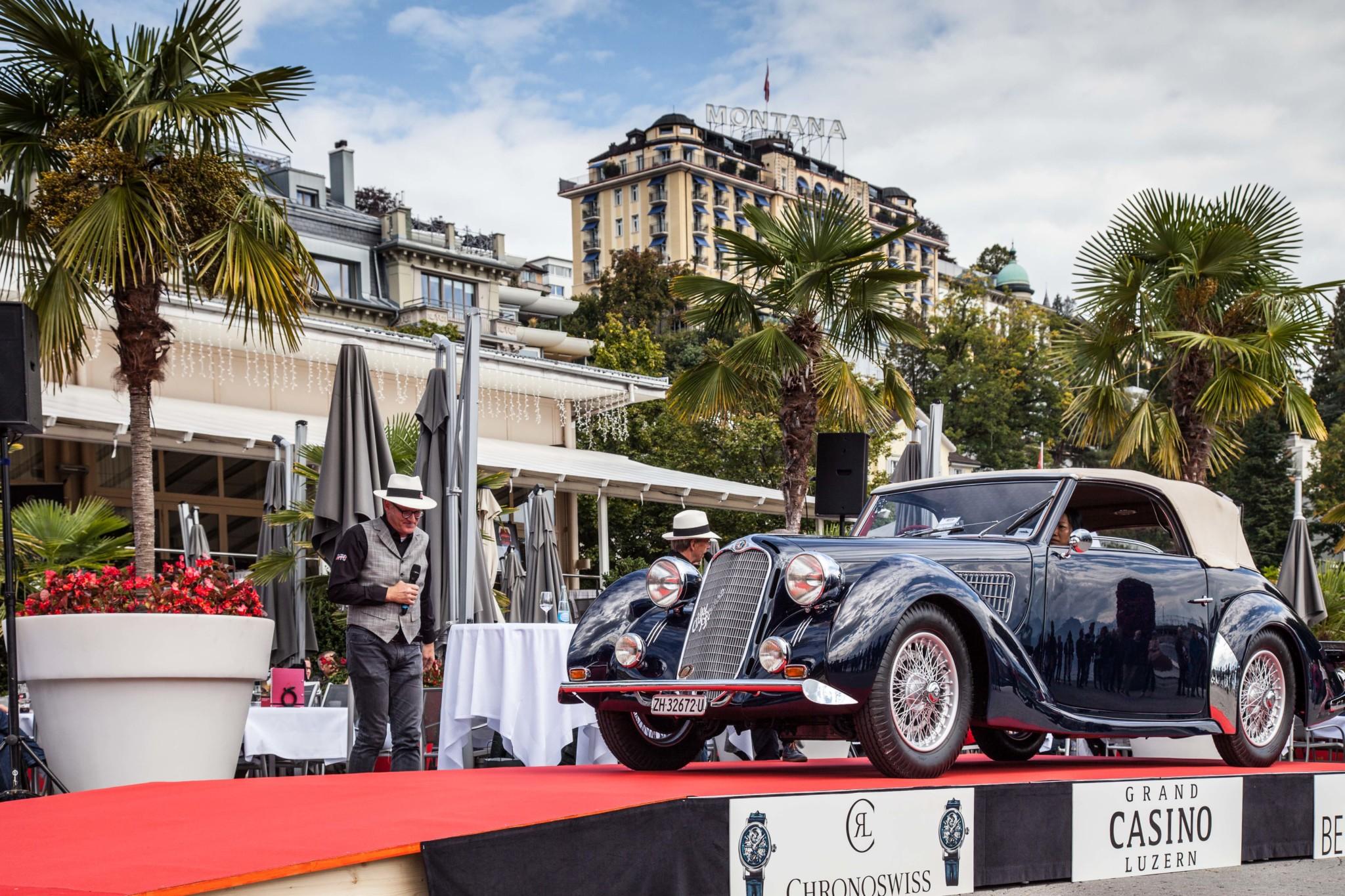 Winning Car Alfa Romeo 6C 2300 corto Cabriolet Worblaufen 1938