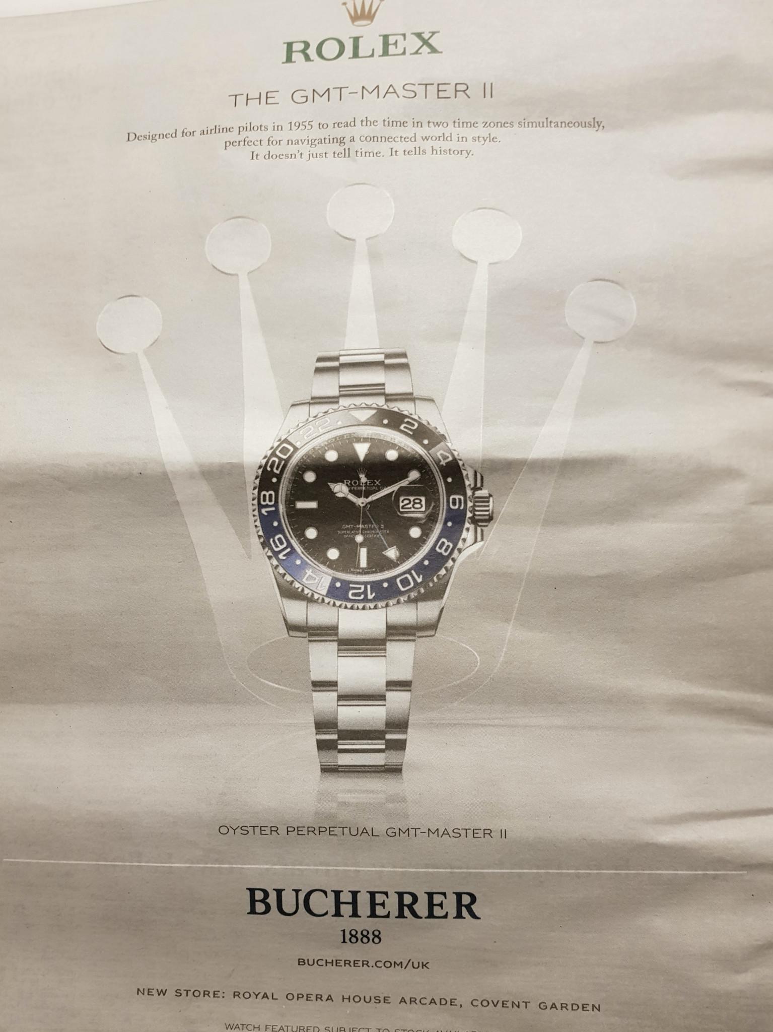 Bucherer Rolex advert