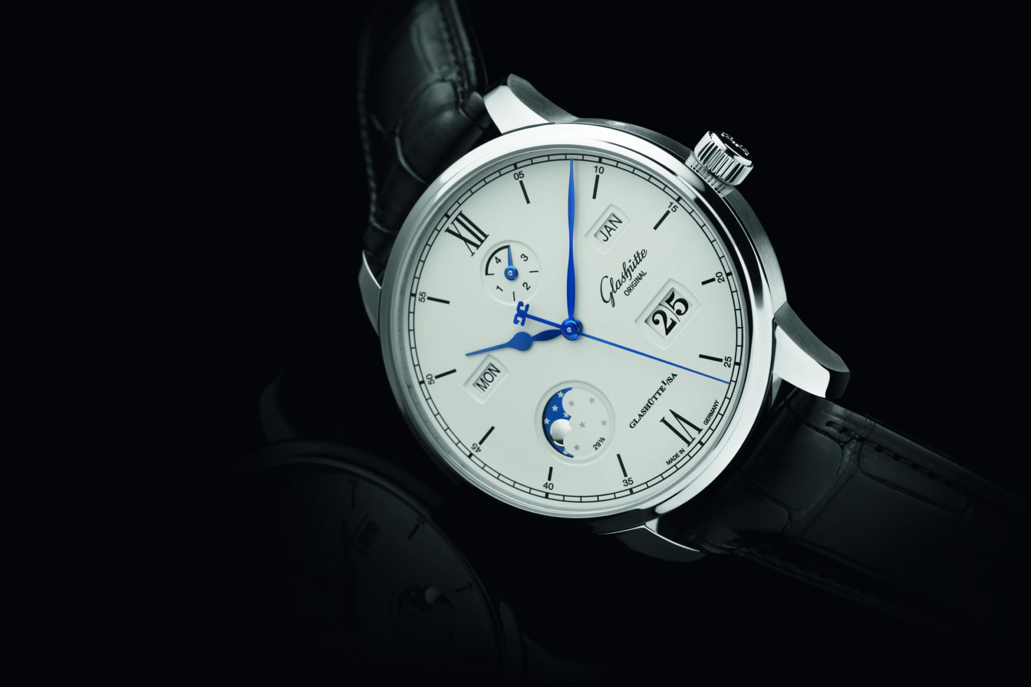Glashutte Original's Senator Excellence Perpetual Calendar demonstrates classical German watchmaking design and engineering.