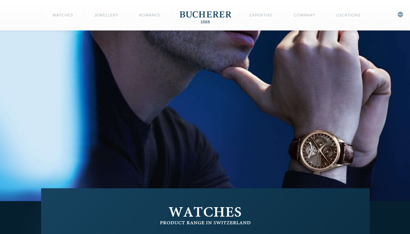 Previously Bucherer.com was just a promotional website for its watch and jewellery business. Now it is a transactional ecommerce site thanks to the expertise of The Watch Gallery.