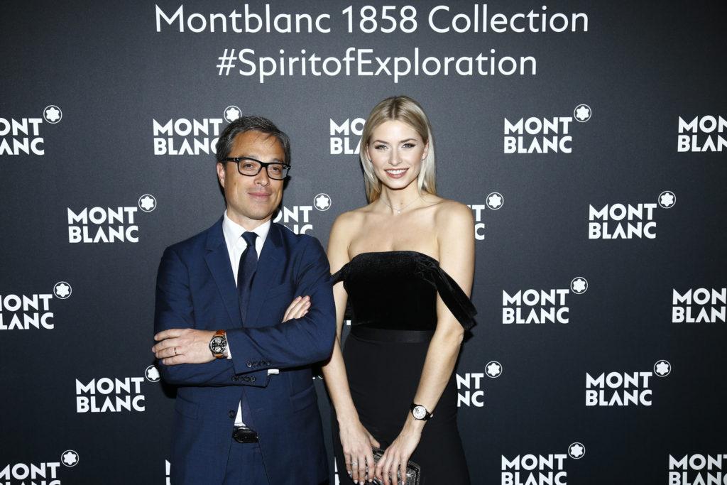 CEO Nicolas Baretzki and German model Lena Gercke