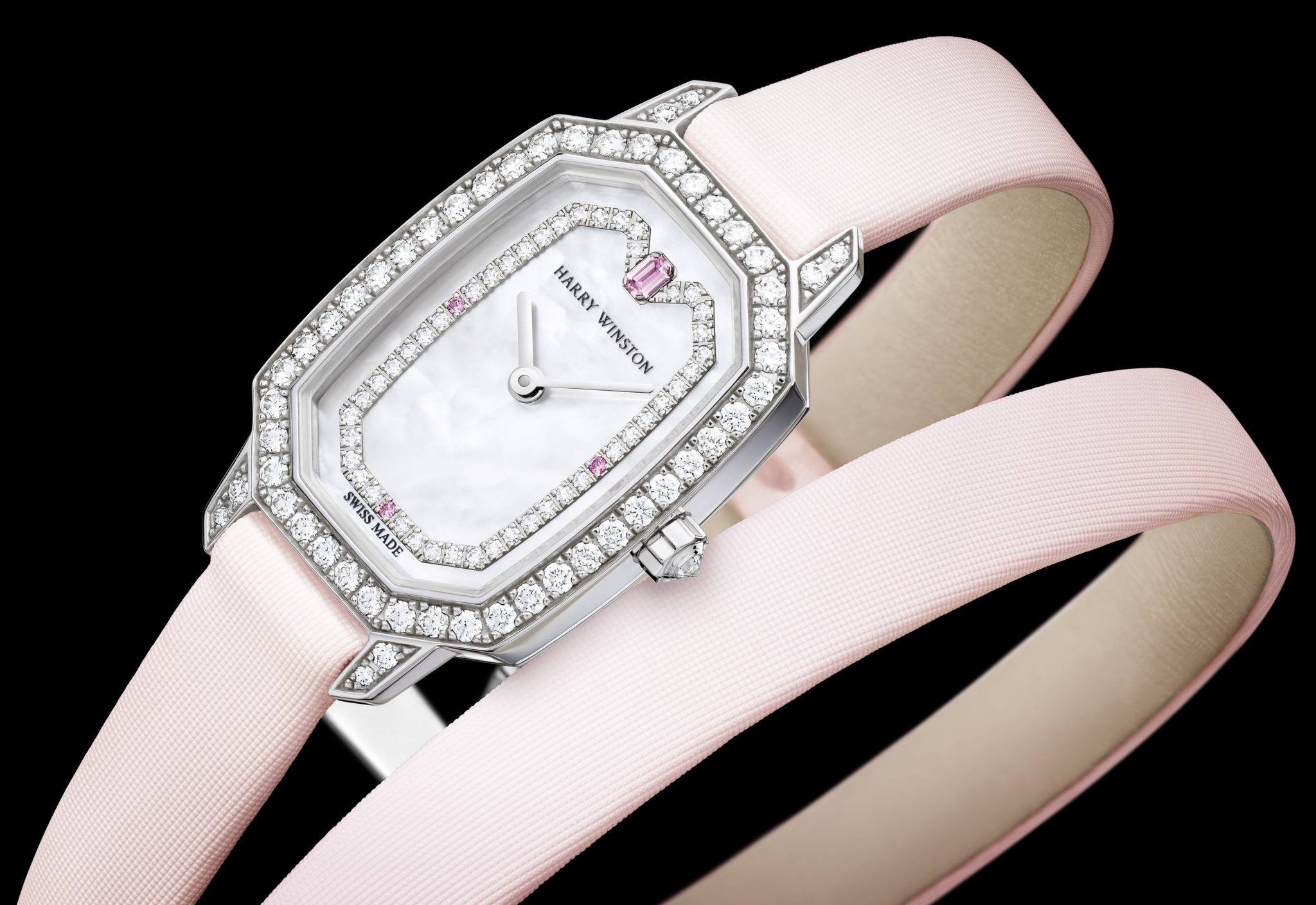 harry winston emerald diamonds pink