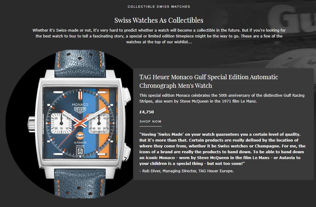 Swiss watch guide