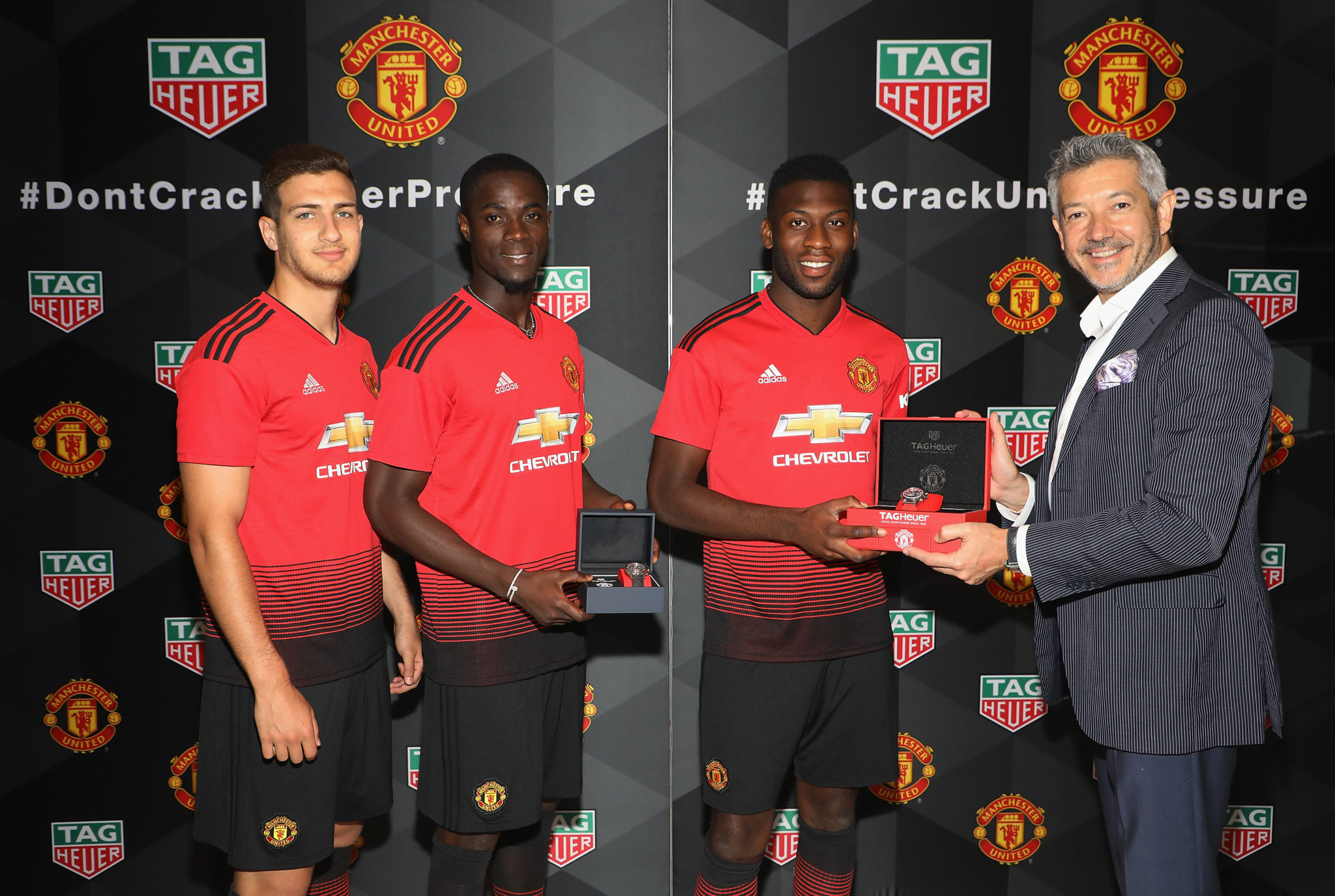 TAG Heuer Celebrates Launch Of New Manchester United Watches With Nemanja Matic And Peter Schmeichel
