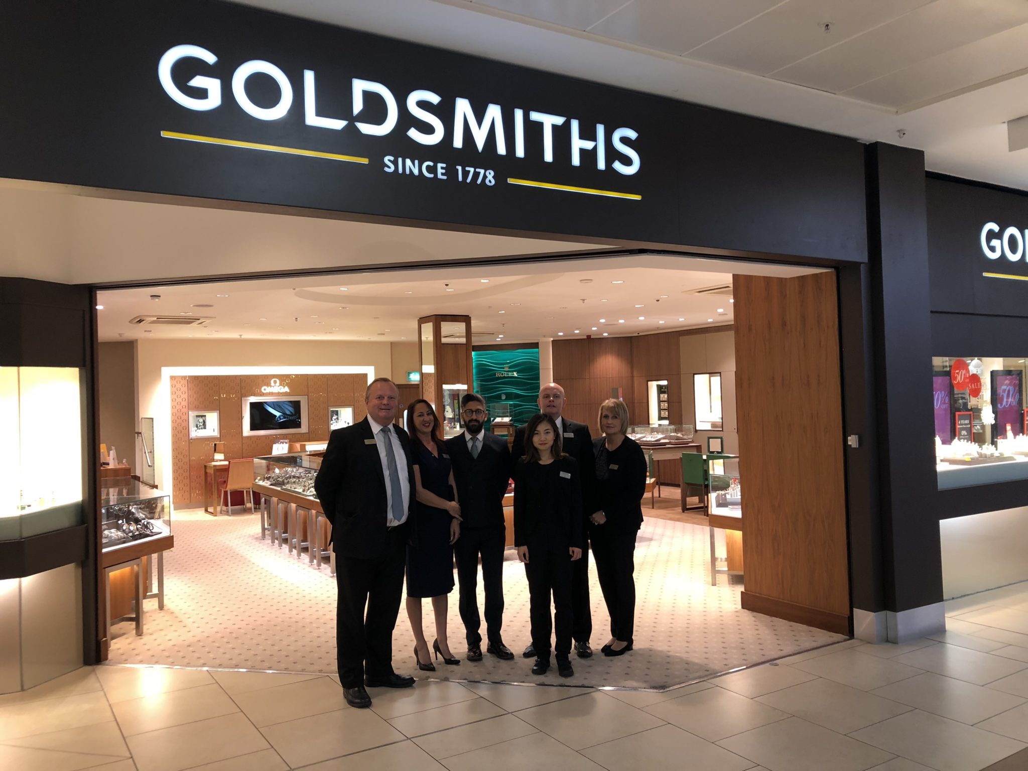 Goldsmiths jewellers has reopened its intu Eldon Square showroom