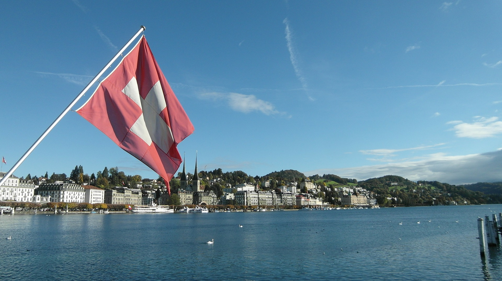 Swiss flag lucerne