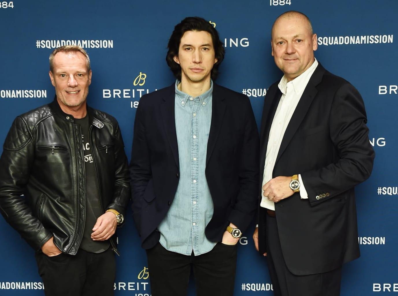 Stuart Garner, Adam Driver, Thierry Prissert_Breitling Premier Norton Edition Event in New York_2