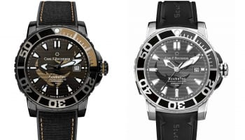 Carl F Bucherer Patravi ScubaTec Black Manta Special Edition side by side