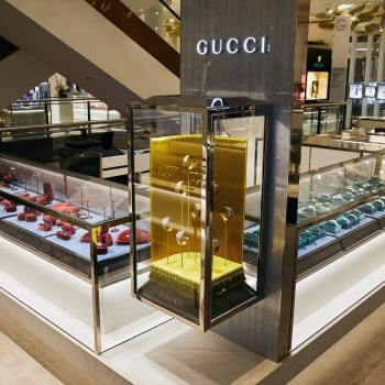Selfridges Gucci display