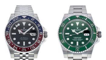 Rolex GMT Master and Submariner Hulk
