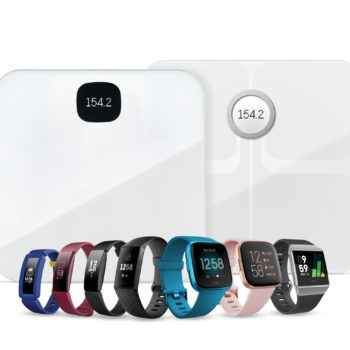 Full Fitbit smartwatch, tracker, and scale family image for 2019 Q3.
