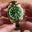 Rolex Submariner gold and green
