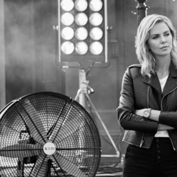 Breitling Cinema Squad Member Charlize Theron wearing Navitimer Automatic 35 (1)
