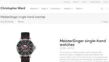 Meistersinger on Christopher Ward