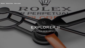 Rolex home page