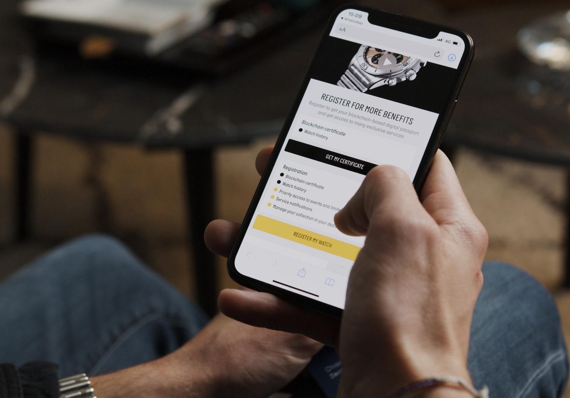 Breitling's Digital Passport based on Blockchain