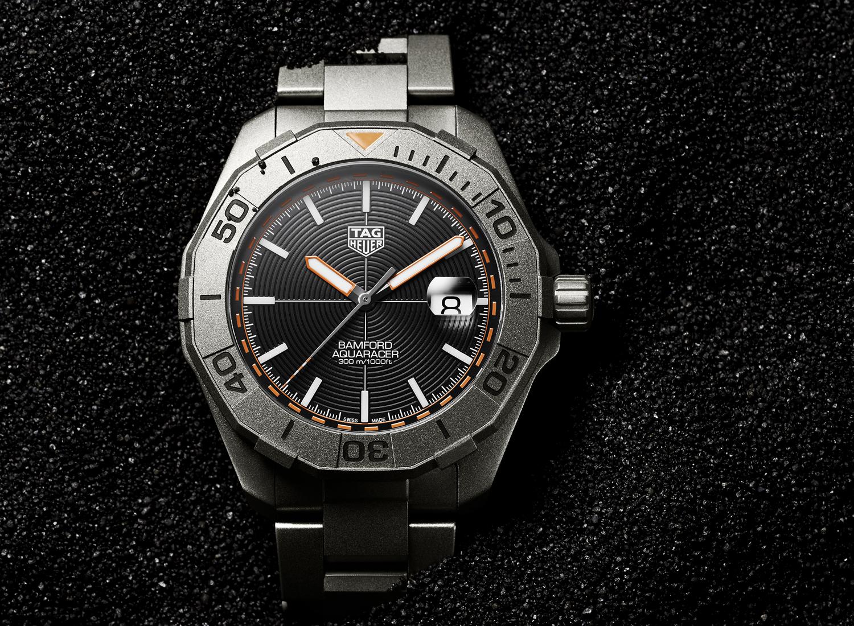 TAG Hueur Aquaracer titanium by Bamford Watch Department.