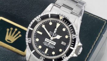 Rolex. A fine and rare stainless steel automatic calendar bracelet watch Comex Sea Dweller, Ref_ 1665, Circa 1979